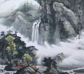钟爱明_中国画_群峰纳翠